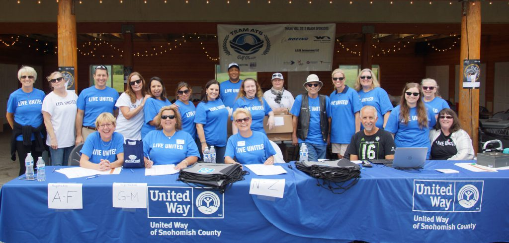 A large group of ATS partners volunteered alongside United Way of Snohomish County folks at the 5th Annual Team ATS