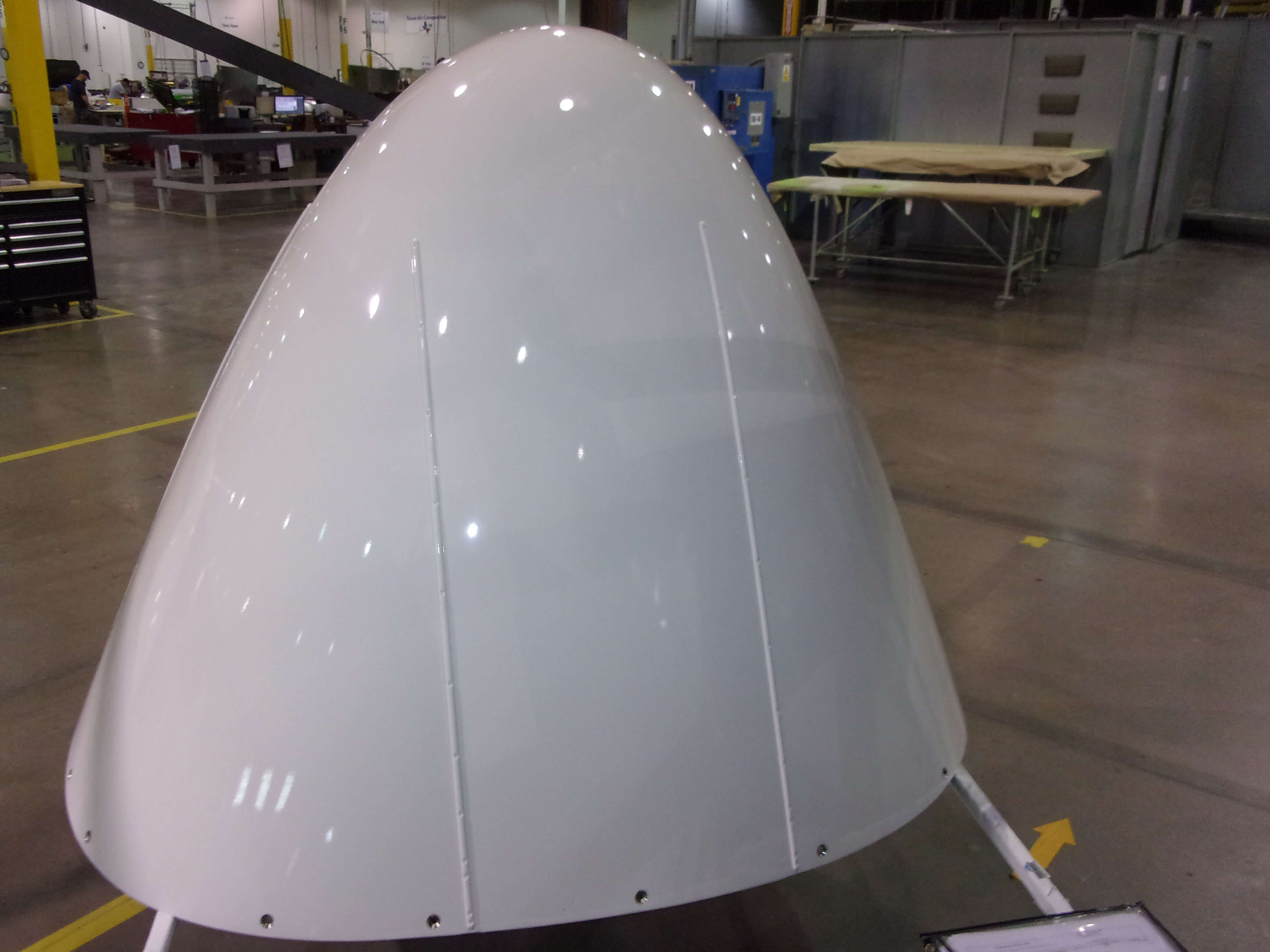 Final paint inspection on a B737 before shipping back to customer
