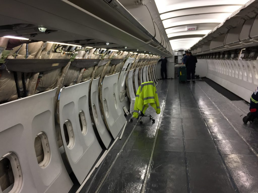 Sidewall installation on new, post-delivery aircraft