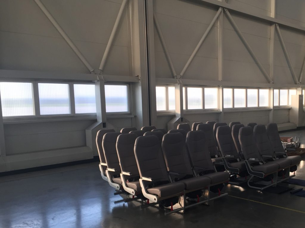 New economy class seats awaiting installation