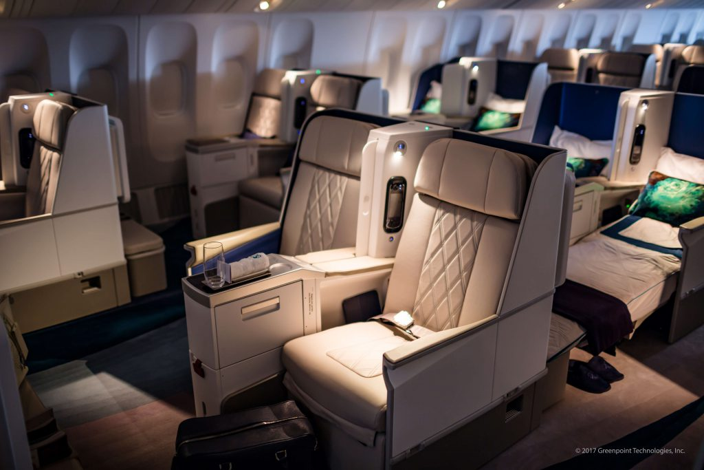 VIP seating area in recent aircraft completion (photo courtesy of Greenpoint Technologies)