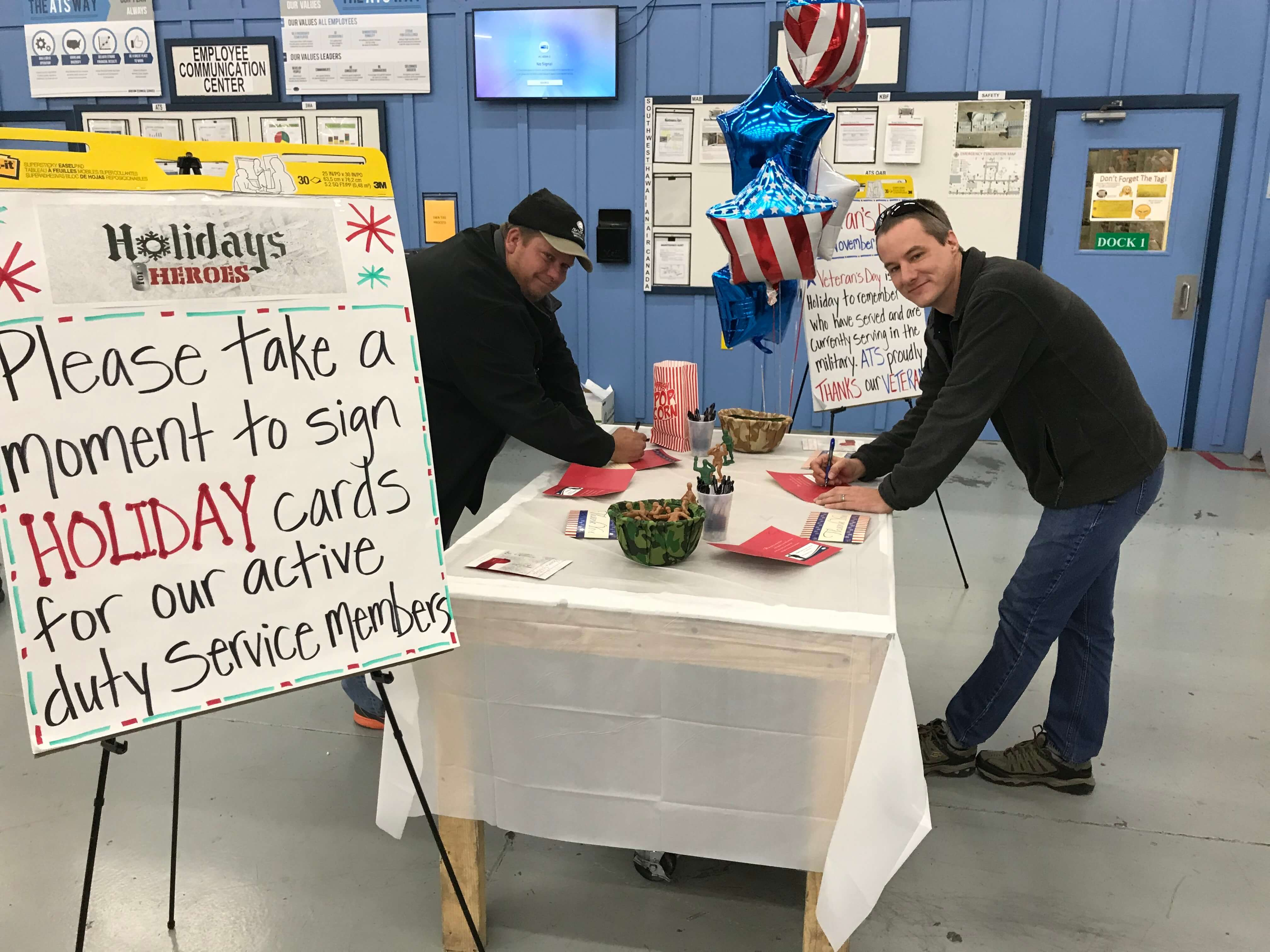 Partners Thank Active Duty Service Members During Veterans Day 2017