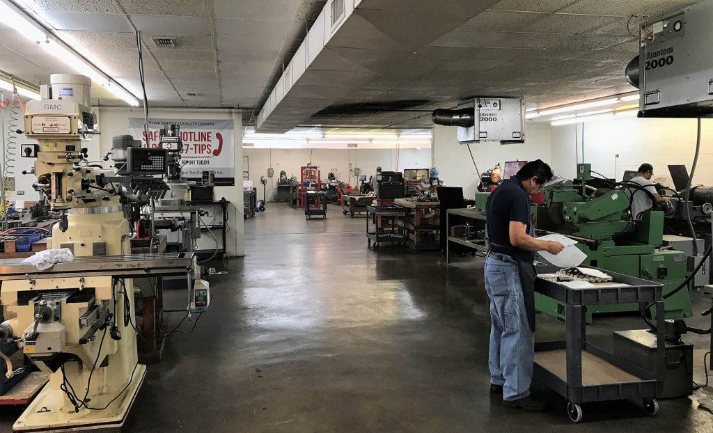Aviation Industry Repair facility main floor, Hurst, TX