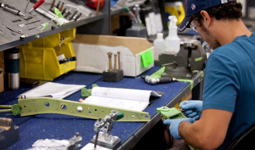 Repairing component per repair specifications