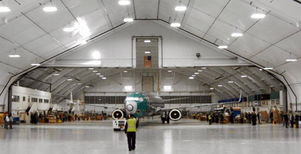 Inside view of Hangar 2- Everett