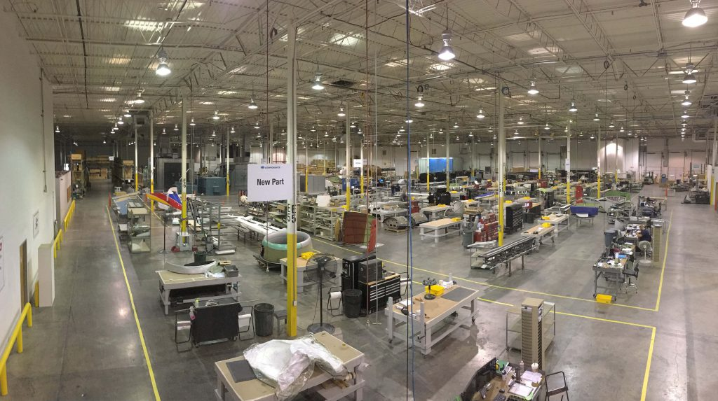 Floor view of the ATS Components-DFW advanced composites repair facility