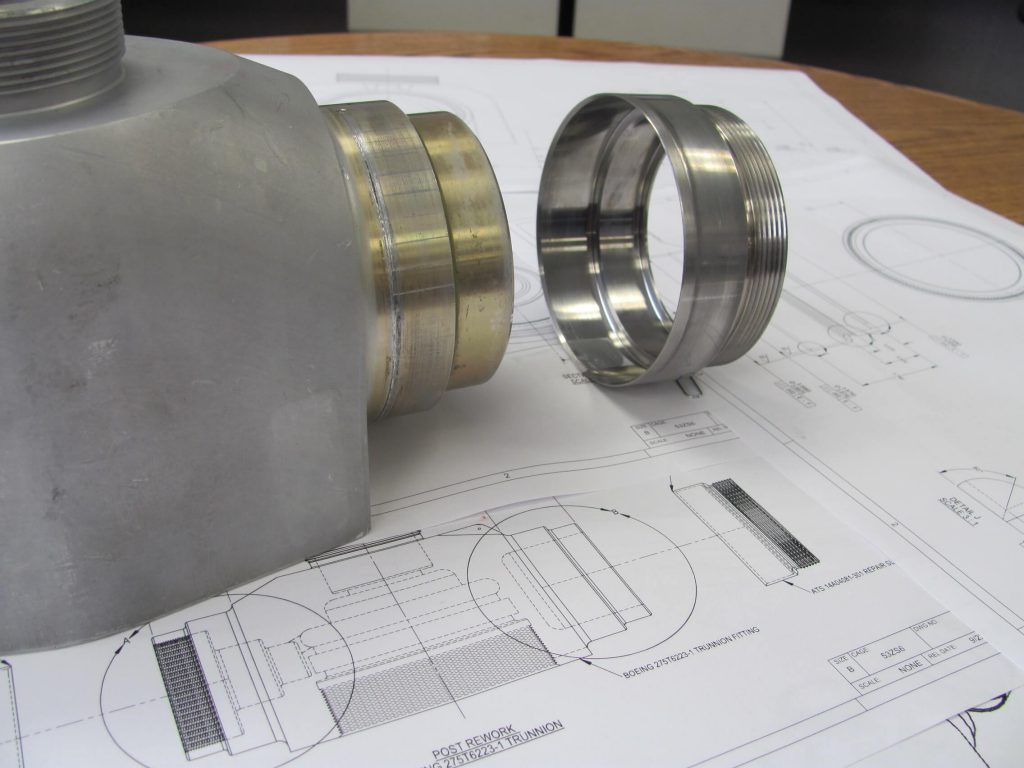 Nose gear trunnion repair specification