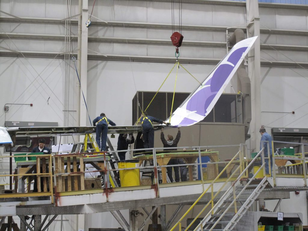 Newly installed winglet upgrade complete