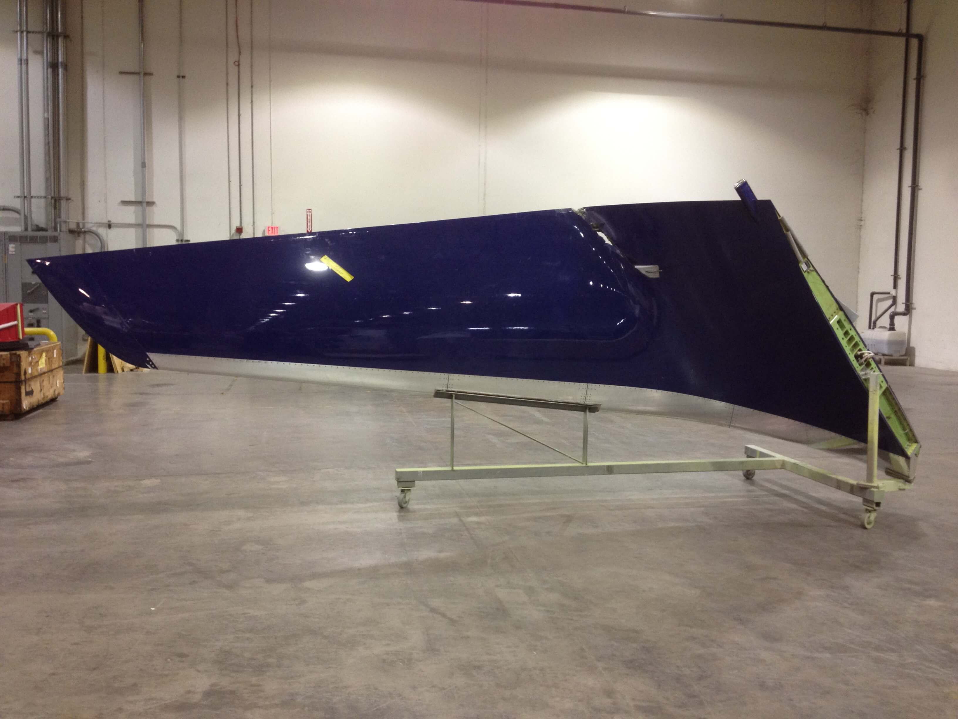 Receiving picture of a damaged B767 winglet